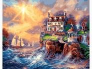 Дом на скалистом берегу