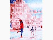 Девушка с полярным оленем