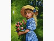 Ангелы и дети Девочка с тюльпанами