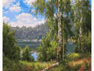 Пейзаж и природа Лесное озеро
