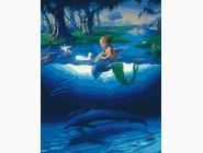 Ангелы и дети Маленький русал с дельфинамы