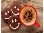Какао и веселое печенье