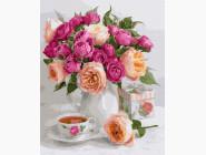 Цветы, натюрморты, букеты Чайное настроение