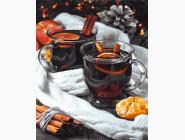 Картины по номерам для кухни Чай с корицей