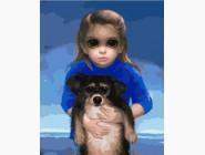 Ребенок с питомцем Маргарет Кин
