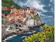 Море, морской пейзаж, корабли Городок у моря