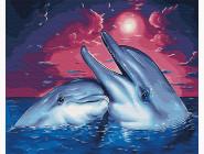 Дельфины в закате