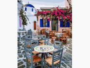 Уютное кафе Санторини