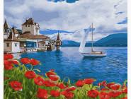 Море, морской пейзаж, корабли Идеальный штиль