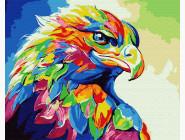 Птицы и бабочки картины по номерам Радужный орёл