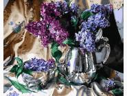 Цветы, натюрморты, букеты Сирень в серебряной вазе