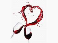 Картины по номерам для кухни Любовь в бокале