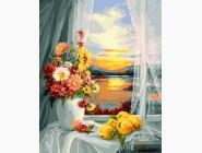 Цветы, натюрморты, букеты Цветы у окна