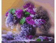 Цветы, натюрморты, букеты Сирень на столе