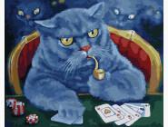 Коты и собаки картины по номерам Кот-игрок