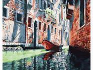 Городской пейзаж Гондола на канале Венеции
