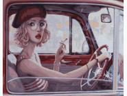 Портреты, люди на картинах по номерам Красавица за рулем