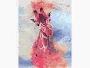 Животные и рыбки Жираф акварелью