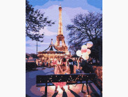 Портреты, люди на картинах по номерам Вечер в Париже