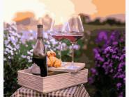 Картины по номерам для кухни Вино в цветах