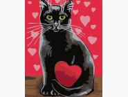 Коты и собаки картины по номерам Влюблённая кошка