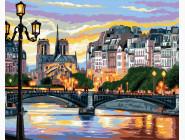 Городской пейзаж Вечерний мост