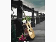 Цветы, натюрморты, букеты Гитара романтика