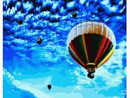 Космос, машины, самолеты Полет в синее небо