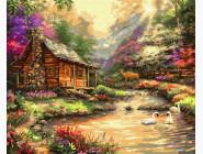 Пейзаж и природа Домик в солнечных лучах