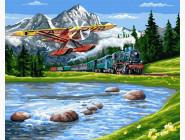картина по номерам Путешествие в горы