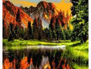 Пейзаж и природа Закат в горной долине