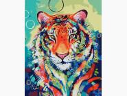 Животные и рыбки Красочный тигр