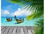 Море, морской пейзаж, корабли Райское побережья