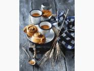 Картины по номерам для кухни Булочки к кофе