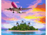Космос, машины, самолеты Полет над островом