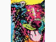 Коты и собаки Песик в красках