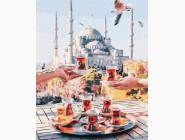 Городской пейзаж Чаепитие в Стамбуле