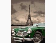 Космос, машины, самолеты Зеленое ретро на улицах Парижа