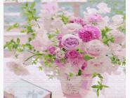 Цветы, натюрморты, букеты Розовый букет