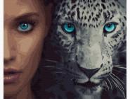 Портреты, люди на картинах по номерам Глаза кошки