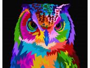 Птицы и бабочки картины по номерам Красочная сова