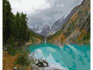 Пейзаж и природа Вид на горное озеро