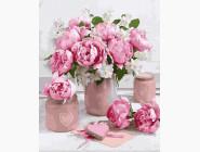 Цветы, натюрморты, букеты Розовые пионы