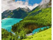 картина по номерам Утро в горах