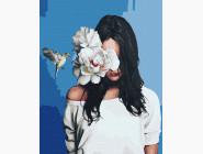 Портреты, люди на картинах по номерам Девушка с колибри