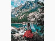 Портреты, люди на картинах по номерам Путешественница у озера