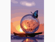 Птицы и бабочки картины по номерам Бабочка и одуванчик