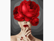 Портреты, люди на картинах по номерам Девушка цветок