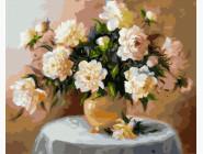 Цветы, натюрморты, букеты Белые пионы