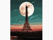Городской пейзаж Парижское полнолуние
